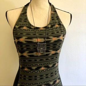 Obey T-Back Tribal Dress and Necklace Bundle